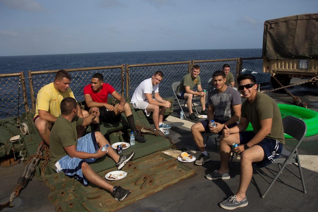 USS Carter Hall steel beach