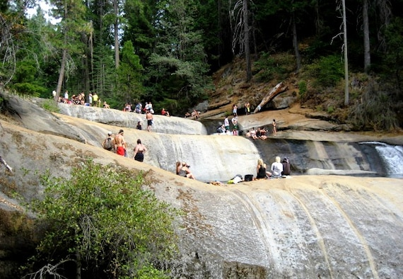 To beat the summer heat, locals flock to a popular swimming hole in a remote canyon of the Sierra foothills near Beale Air Force Base, Calif. Area emergency services have responded to a dramatic increase in rescues from the isolated location in recent years.