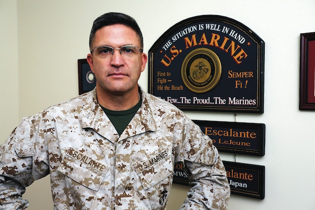 Col. Yori R. Escalante, chief of staff, Marine Corps Logistics Command, was at the Pentagon during the attack Sept. 11, 2001. Escalante was the guest speaker at Marine Corps Logistics Base Albany's 9/11 ceremony.