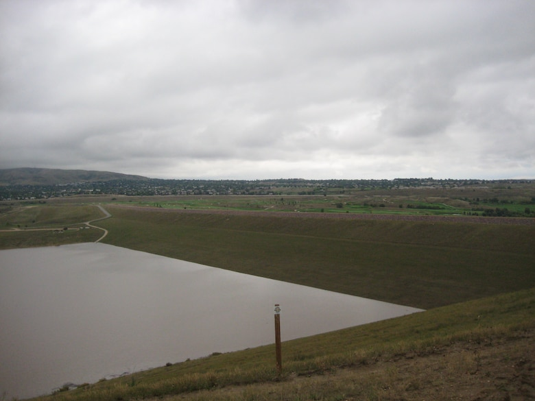 Bear Creek Lake, located on Bear Creek Dam on the southwest edge of suburban Lakewood, Colo., continues to receive inflows from the ongoing rainfall and runoff. At 4 a.m., Sept. 15, the reservoir pool elevation surpassed its previous record elevation of 5587.1 feet, which occurred in 1995. The reservoir pool elevation at midnight, Sept. 16, was 5593.2 feet.