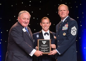 Senior Casey Anderson, mental health technician, 59th Mental Health Squadron, Joint Base San Antonio-Lackland, Texas was recognized as one of the 12 Outstanding Airmen of the Year at the reception and awards dinner hosted by the Air Force Association (AFA) during the AFA's annual Air & Space Conference and Technology Exposition in Washington D.C., on Sept. 16, 2013. The OAY award recognizes the top 12 outstanding enlisted Airmen for superior leadership, job performance, community involvement, and personal achievements. The program was initiated at the Air Force Association's 10th annual national conference, held in New Orleans in 1956. The Air Force Chief of Staff reviews the selections. (U.S. Air Force photo/Jim Varhegyi)