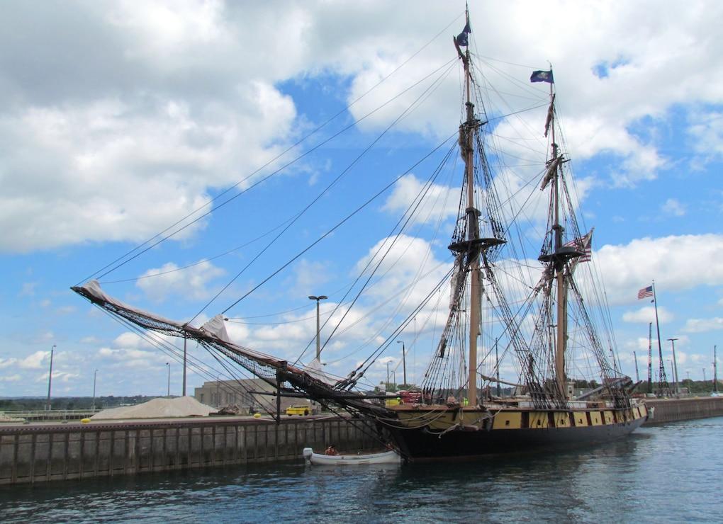 Tall Ship at the Soo Locks