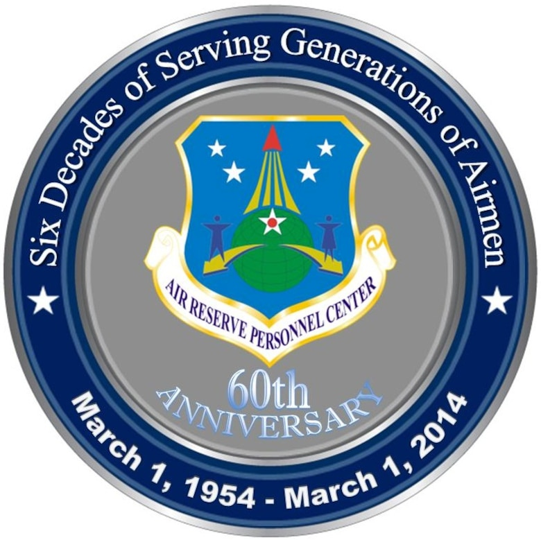 Members of the Air Reserve Personnel Center will celebrate their 60th anniversary soon. ARPC was established on Nov. 1, 1953 and officially opened its doors March 1, 1954. (U.S. Air Force illustration/Command Chief Master Sgt. Brian C. L. Wong)