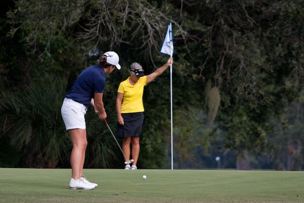Navy Women win their third straight Armed Forces Womens Golf title in a row with LT Nicole Johnson leading the way taking individual gold.