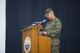 Brig. Gen. Paul. J. Kennedy addresses members of the Philippine and U.S. Marines Corps during the opening ceremony of Amphibious Landing Exercise 2014 at Naval Station Leovigildo Gantioqui, San Antonio, Zambales, Republic of the Philippines, Sept. 18. The recurrence of PHIBLEX, now in its 30th year, demonstrates the U.S. and Republic of the Philippines' commitment to mutual security and their long-time partnership. Kennedy is the commanding general of 3d Marine Expeditionary Brigade.