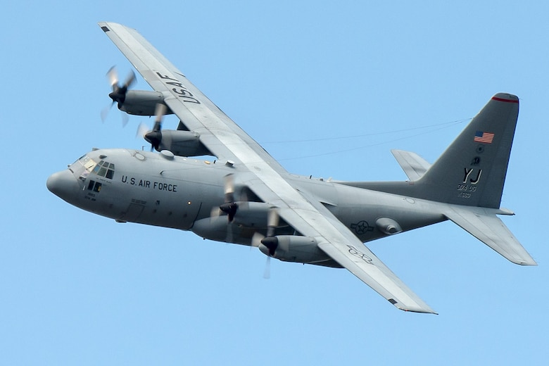 A C-130 Hercules flies during a training mission over Yokota Air Base, Japan, Sept. 24, 2013. The C-130H provides tactical airlift worldwide. Its flexible design allows it the capability to operate in austere environments. (U.S. Air Force photo/Osakabe Yasuo)