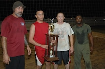 Congratulations to Fort Leonard Wood's U.S. Marine Corps Detachment team that won the 2013 Commander's Cup Sand Volleyball Tournament Sept. 24 at Pershing Community Center.