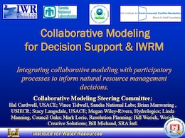 Collaborative Modeling for Decision Support and Integrated Water Resources Management