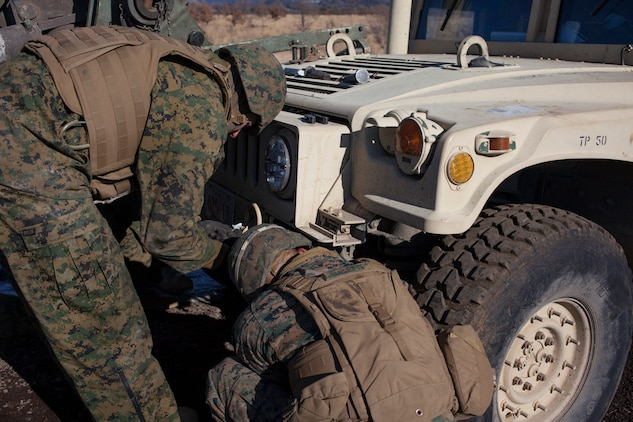 Marines Battle Weather Terrain To Keep Vehicles Moving