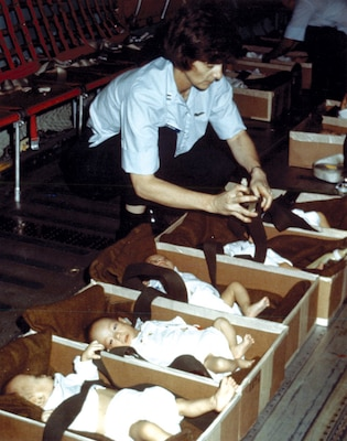 More than 3,000 Vietnamese orphans were evacuated from Saigon throughout April 1975 during Operation Babylift.