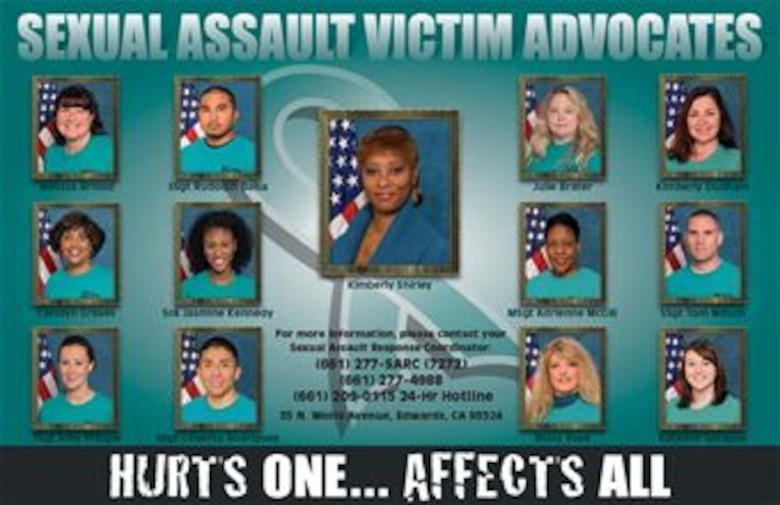 Edwards AFB Sexual Assault Victim Advocates (U.S. Air Force graphic)