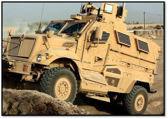 Mine Resistant Ambush Protected Family of Vehicles is a family of mobile, land-based platforms designed for conducting Department of Defense ground combat and support missions in hostile territory.