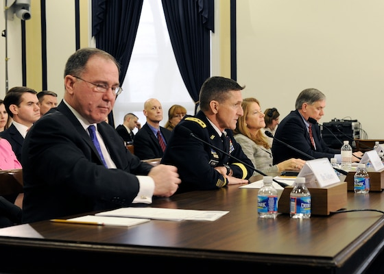 DIA Director Lt. Gen. Michael Flynn spoke before the House Armed Services Committee, Sub-Committee on Intelligence, Emerging Threats and Capabilities. He joined Dr. Michael G. Vickers, Under Secretary of Defense for Intelligence, Ms. Letitia A. Long, Director of the National Geospatial-Intelligence Agency, and Mr. Richard H. Ledgett, Jr., Deputy Director of the National Security Agency.