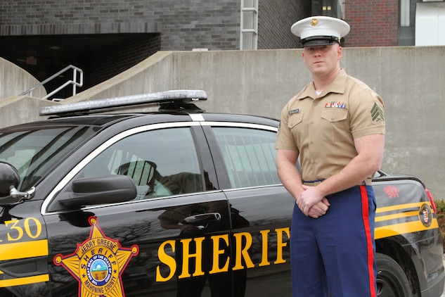 U.S. Marine Corps Sgt. Todd F. Schuller, extended active duty recruiter from Recruiting Sub-Station Tri-County, is selected for a position as a Criminal Investigation Division Agent. During his time as a recruiter, the Boardman, Ohio native, has also worked as a corrections deputy for Mahoning County and with the narcotics task force in Trumball County. (U.S. Marine Corps photo by Sgt. Timothy Stewman/Released)
