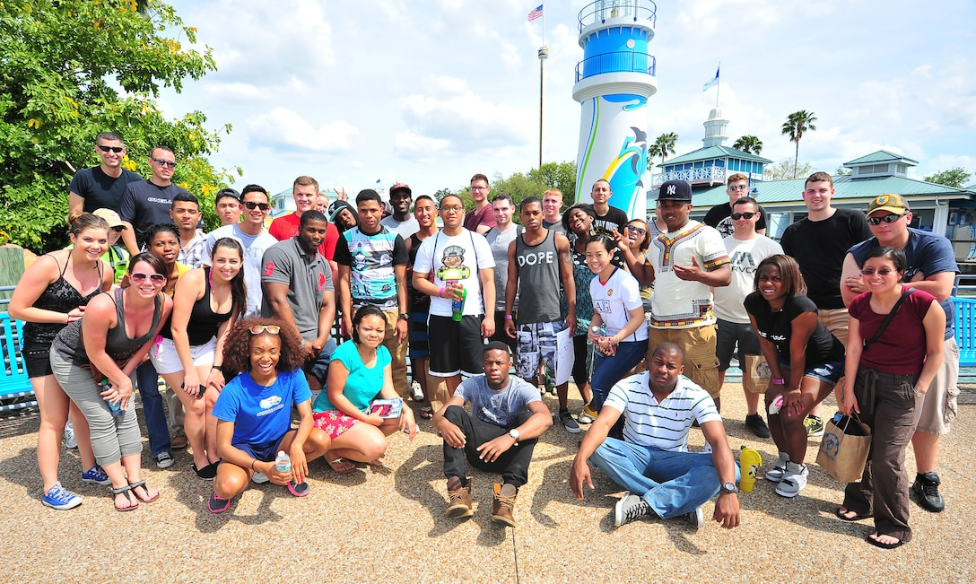 More than 50 Tyndall Airmen went to Sea World April 6 in Orlando, Fla. The Airmen went on a trip to work on spiritual fitness.( (U.S. Air Force photo by Airman Sergio A. Gamboa)