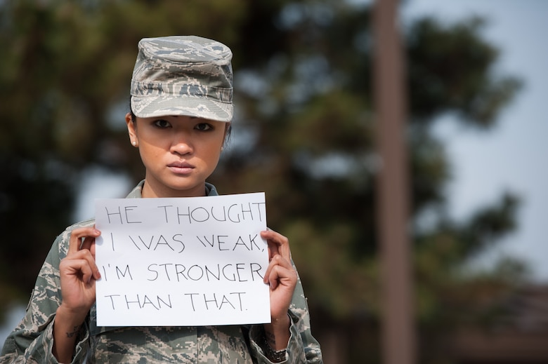 Kunsan members unite against sexual assault.(U.S. Air Force photo by Senior Airman Armando A. Schwier-Morales)