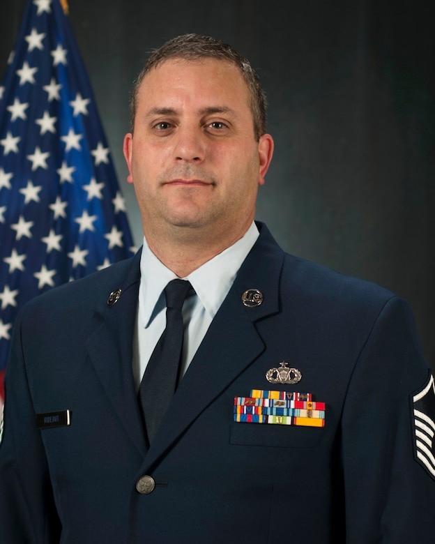 New Hampshire Air National Guard Master Sgt. Jonathan Rideout of the 157th Air Refueling Wing was recently selected as the Command Post Senior NCO of the Year within the Air National Guard for 2013. (N.H. Air National Guard photo by Tech. Sgt. Aaron Vezeau)