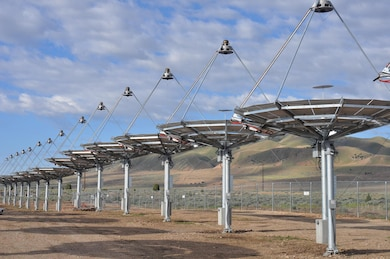 Tooele Army Depot Solar Array: The solar array at the alternative energy corridor at Tooele Army Depot in Utah is a Fiscal Year 2012 Army Energy Conservation Investment Program project. Pictured here in May 2013, the 429 solar dishes are expected to provide 1.5 megawatts of electricity, approximately 30 percent of the depot's annual electric energy need.