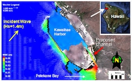 Among CMS' success stories is the study on the evaluation of a proposed channel for circulation improvement in Kawaihae Harbor, HI.