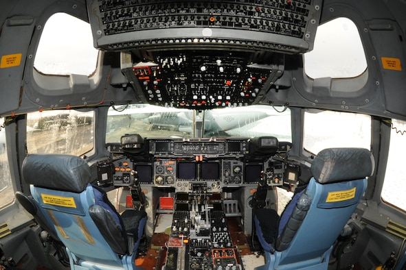 DAYTON, Ohio - Boeing C-17 cockpit at the National Museum of the U.S. Air Force. (U.S. Air Force photo by Ken LaRock)