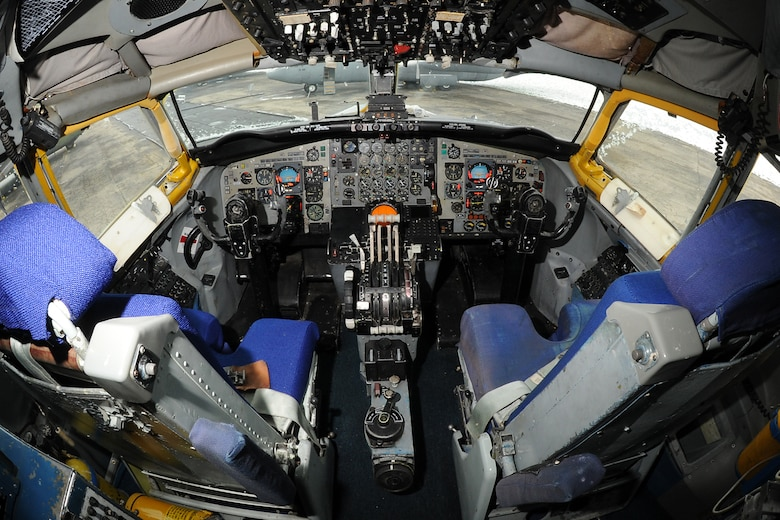 DAYTON, Ohio - Boeing EC-135E ARIA cockpit at the National Museum of the United States Air Force. (U.S. Air Force photo by Ken LaRock)