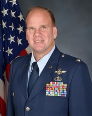 Official Photo of Col. David Robertson, 513th Air Control Group Commander