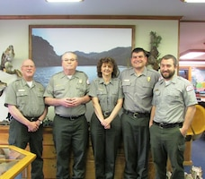 The Natural Resources Management staff at Carr Creek Lake received a NWSC regional award for their efforts in water safety.