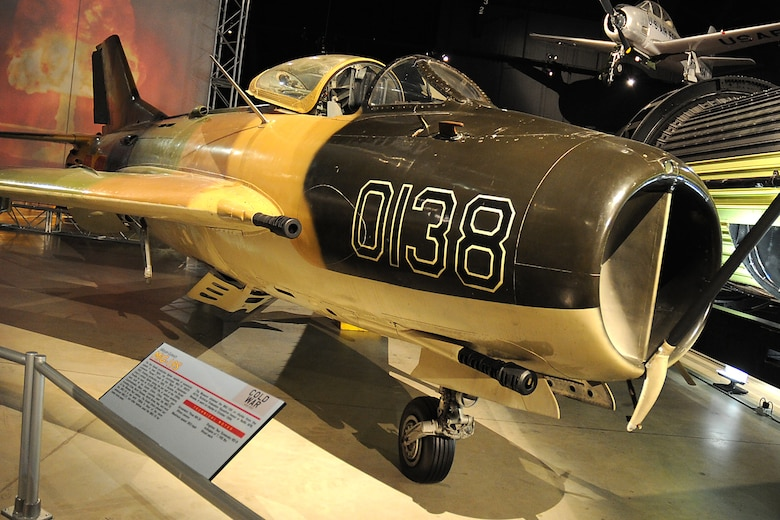 "DAYTON, Ohio -- Mikoyan-Gurevich MiG-19S ""Farmer"" in the Cold War Gallery at the National Museum of the United States Air Force. (U.S. Air Force photo)"