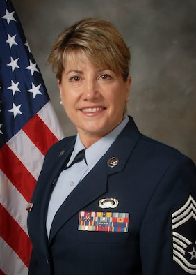 Chief Master Sgt. Connie Bacik of the 128th Air Refueling Wing, Wisconsin Air National Guard, was announced to assume to position of command chief master sergeant of the wing.  A change of authority ceremony is scheduled to be held May 18, 2014.  (Air National Guard photo by Staff Sgt. Jenna V. Lenski/Released)