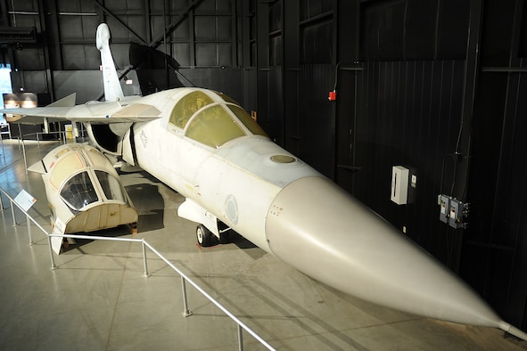 DAYTON, Ohio -- General Dynamics EF-111A Raven in the Cold War Gallery at the National Museum of the United States Air Force. (U.S. Air Force photo)