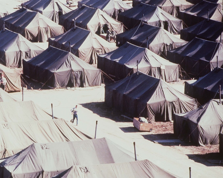 INCIRLIK AIR BASE, Turkey -- Prior to the establishments of harden facilities in 2003 at Patriot Village, Incirlik Air Base, Turkey, tents were used to house contingency troops. (U.S. Air Force photo)