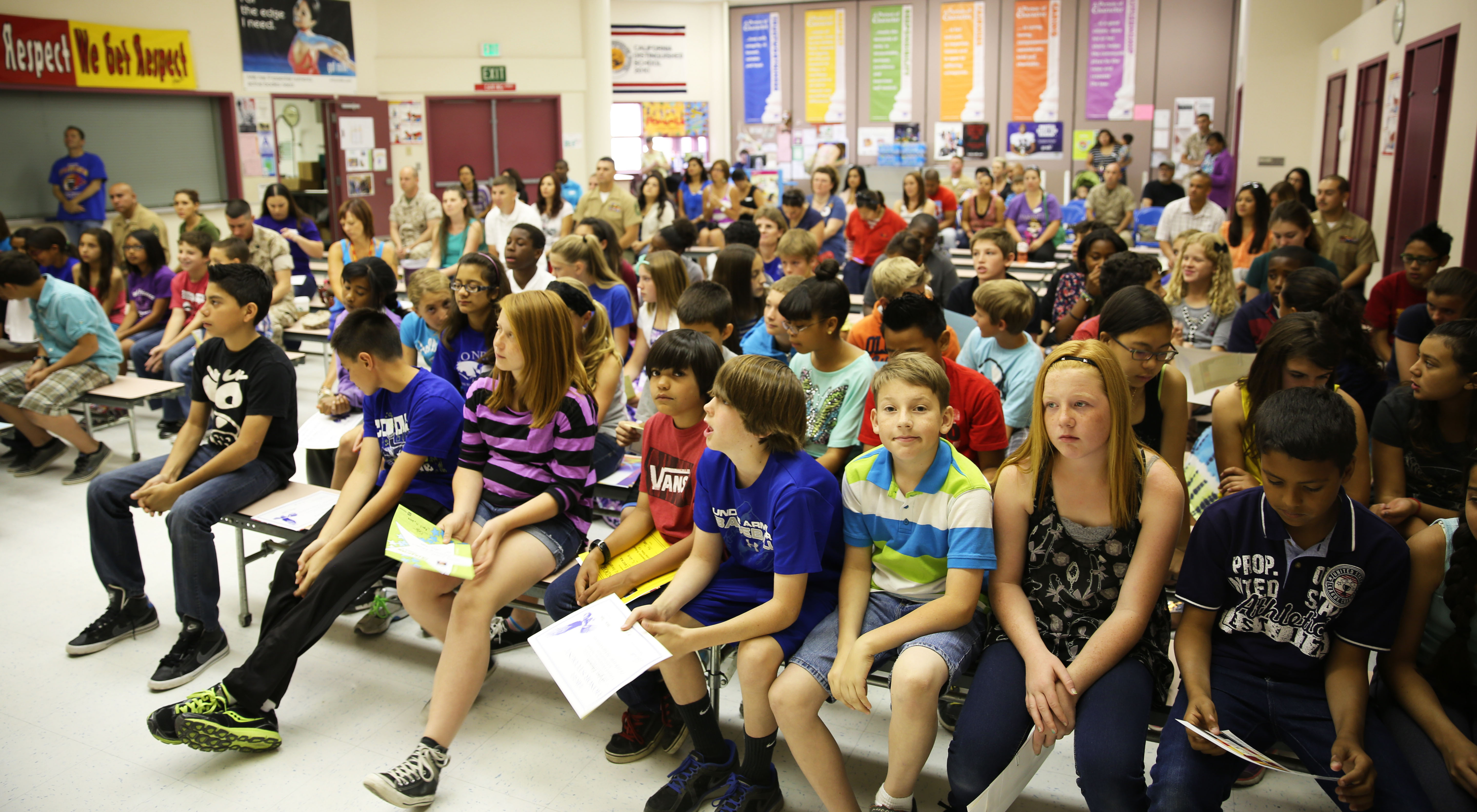 condor elementary students receive honorary awards marine corps