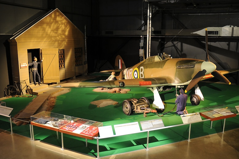 DAYTON, Ohio -- Hawker Hurricane diorama in the Early Years Gallery at the National Museum of the United States Air Force. (U.S. Air Force photo by Ken LaRock)