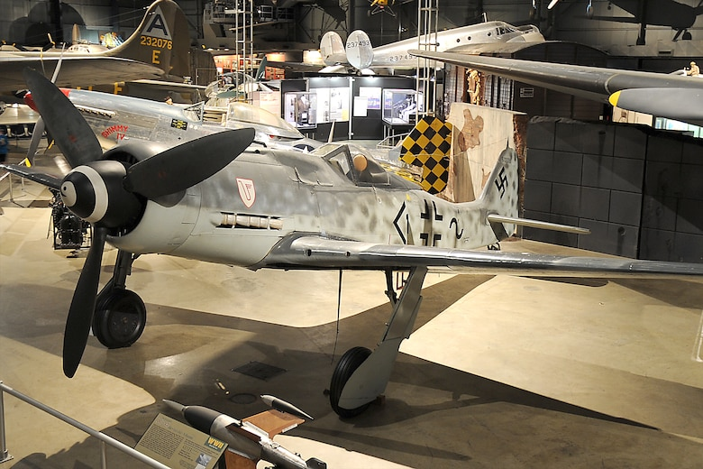 DAYTON, Ohio -- Focke-Wulf Fw 190D-9 in the World War II Gallery at the National Museum of the United States Air Force. (U.S. Air Force photo)