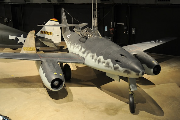 Messerschmitt Me 262A in the World War II Gallery at the National Museum of the United States Air Force. (U.S. Air Force photo)