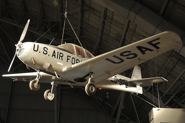 DAYTON, Ohio -- North American L-17A Navion on display in the Korean War Gallery at the National Museum of the United States Air Force. (U.S. Air Force photo)