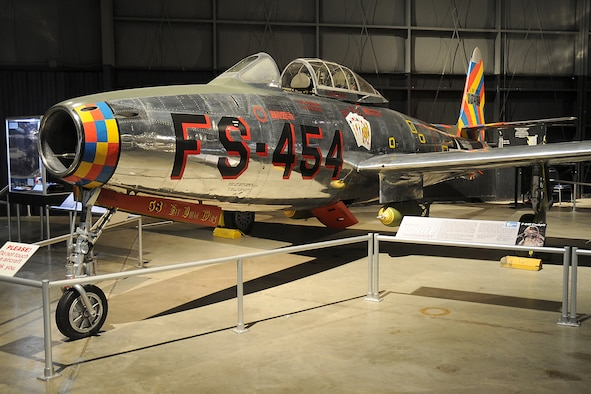 DAYTON, Ohio -- Republic F-84 on display in the Korean War Gallery at the National Museum of the U.S. Air Force. (U.S. Air Force photo)