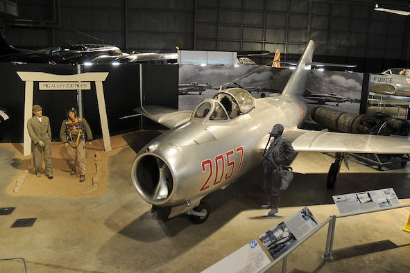 DAYTON, Ohio -- Mikoyan-Gurevich MiG-15 on display in the Korean War Gallery at the National Museum of the United States Air Force. (U.S. Air Force photo)