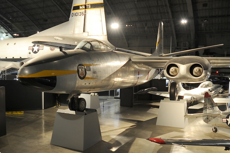 DAYTON, Ohio -- North American B-45C Tornado on display in the Korean War Gallery at the National Museum of the United States Air Force. (U.S. Air Force photo)