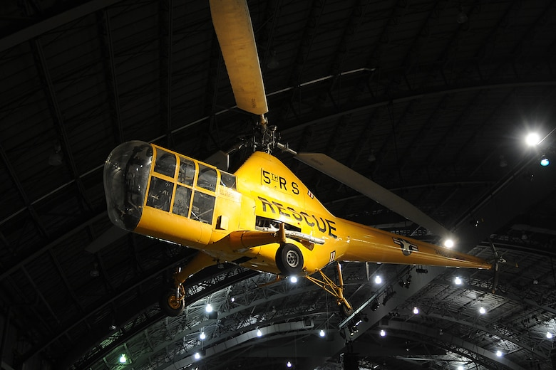 DAYTON, Ohio -- Sikorsky YH-5A on display in the Korean War Gallery at the National Museum of the United States Air Force. (U.S. Air Force photo)