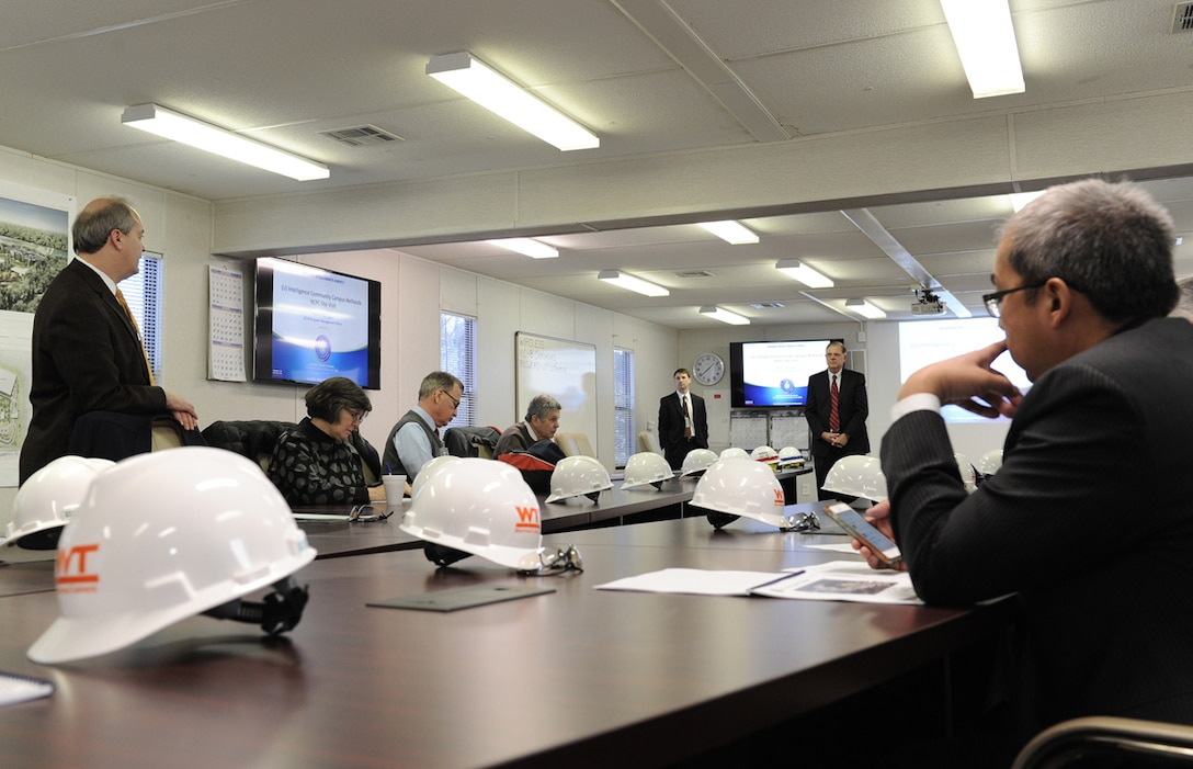 National Capital Planning Commission commissioners, members of the intelligence community and engineers from the Army Corps of Engineers receive an ICC-B project update from DIA March 5.