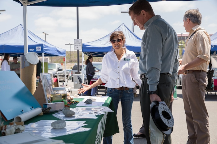 Environmental vendors displayed energy efficient items and offered energy conservation information to the public during Pendleton's 2014 Earth Day celebration event at the Pacific Views Marine Corps Exchange April 22. The event focused on the protection of the environment by raising awareness for the plant and animal communities on base.