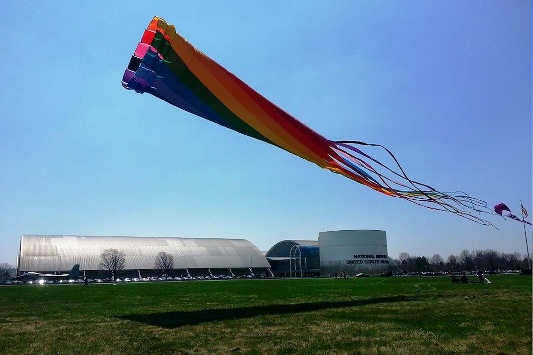 DAYTON, Ohio -- Children and adults of all ages welcomed spring with kite stories, kite building, kite flying and other free hands-on educational opportunities during Family Day on April 19, 2014, at the National Museum of the U.S. Air Force. (Courtesy photo)