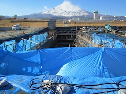 The Camp Fuji Hazardous Material Control Center was transferred to the U.S. Marine Corps in Camp Fuji on Dec 19, 2013 after a final inspection of the building was conducted.
