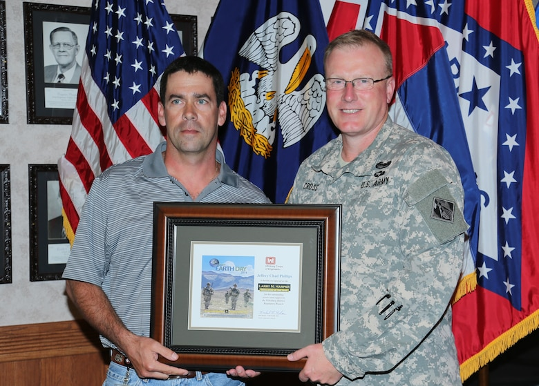 "Vicksburg, Miss……The U.S. Army Corps of Engineers, Vicksburg District, has awarded Jeffrey (Chad) Phillips the 2014 ""Larry N. Harper Regulator of the Year Award"". Phillips was nominated by his peers as this year's award recipient. The District presents this award for work in caring for our nation's wetlands each year on Earth Day."