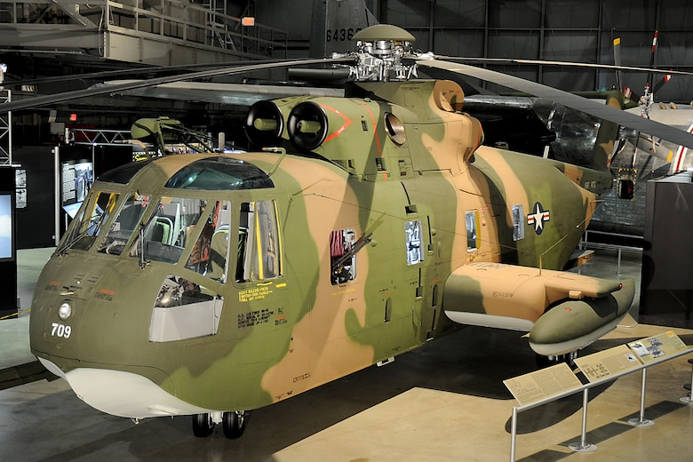 DAYTON, Ohio -- Sikorsky HH-3 in the Southeast Asia War Gallery at the National Museum of the United States Air Force. (U.S. Air Force photo by Ken LaRock)