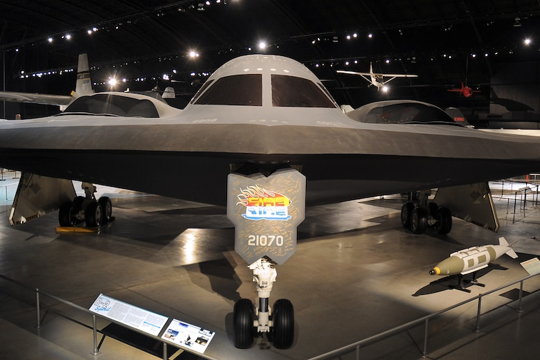 DAYTON, Ohio - Northrop B-2 Spirit in the Cold War Gallery at the National Museum of the United States Air Force. (U.S. Air Force photo)
