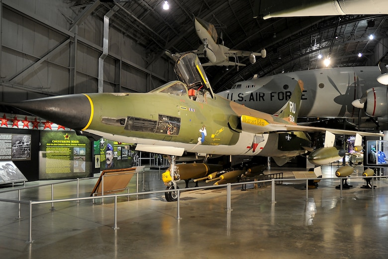 DAYTON, Ohio -- Republic F-105D Thunderchief in the Southeast Asia War Gallery at the National Museum of the United States Air Force. (U.S. Air Force photo by Ken LaRock)