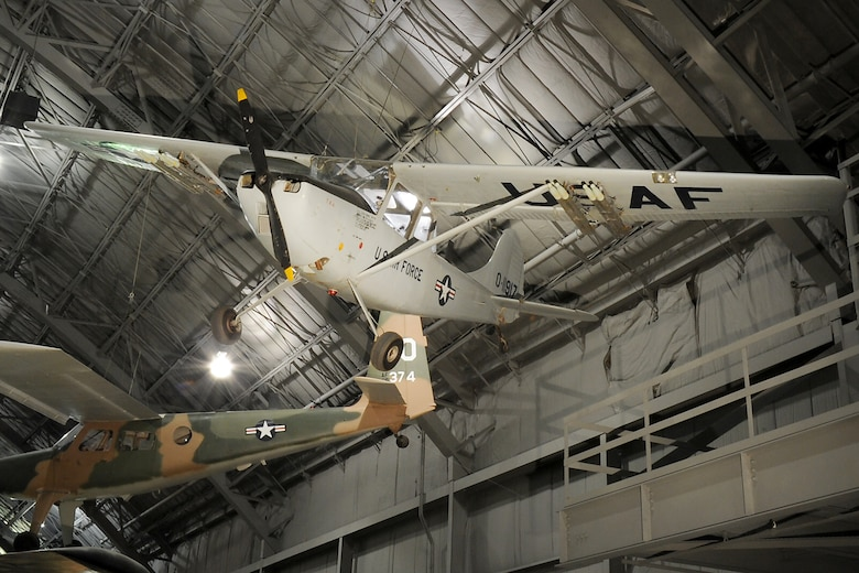 DAYTON, Ohio -- Cessna O1-G in the Southeast Asia War Gallery at the National Museum of the United States Air Force. (U.S. Air Force photo)