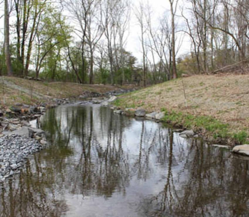 The U.S. Army Corps of Engineers' Philadelphia District and the Philadelphia Water Department celebrated the completion of the daylighting of the Indian Creek as part of the Cobbs Creek Watershed Habitat Restoration during an April 25, 2014 event at Morris Park in the Overbrook section of Philadelphia. The project reduces combined sewage overflow and improves public health, water quality, habitat, and enhances the aesthetics of the park.
